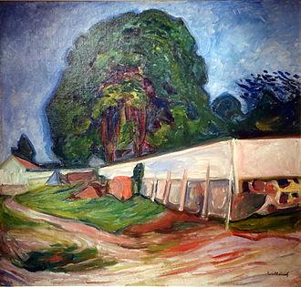 Åsgårdstrand - Summer Night at Åsgårdstrand  painted by Edvard Munch (1904)