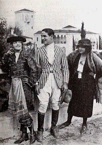 Malvina Polo - Publicity photo with Eileen Sedgwick, Eddie Polo, and Malvina Polo