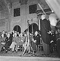 Eisenhower in Amsterdam. Burgerzaal van het Paleis op de Dam. Toespraak van waar, Bestanddeelnr 900-8891.jpg