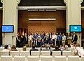 El Movistar Estudiantes de Baloncesto Femenino celebra su ascenso a primera con la alcaldesa (07).jpg