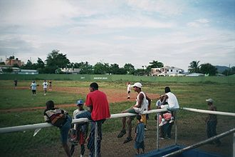 El Seibo Province - A game of baseball in Santa Cruz de El Seibo, Dominican Republic.