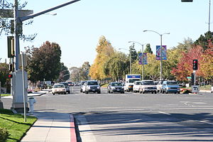 California State Route 82 - Route 82 at the intersection with Mathilda Avenue (Sunnyvale)
