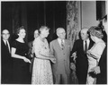 Eleanor Roosevelt, Truman, and Sam Rayburn at the Harry S.Truman Library in Independence, Missouri - NARA - 196026.tif