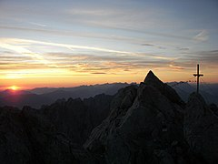 Sunrise at the summit