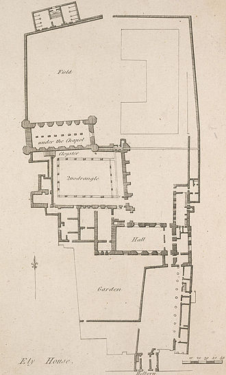 Ely Place - An 18th-century plan of Ely House