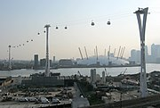 Emirates Air Line towers 24 May 2012