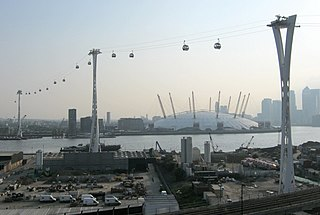 Emirates Air Line (cable car) Cable car link across the River Thames in London