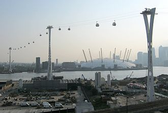 Gondola lift - London's Air Line over River Thames