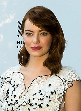 Emma Stone won for her performance in La La Land (2016) Emma Stone at the 39th Mill Valley Film Festival (cropped).jpg