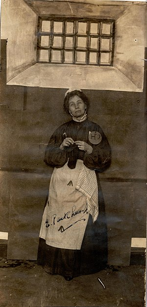 Emmeline Pankhurst knitting in cell.jpg