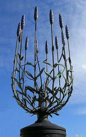 London Borough of Sutton - Sculpture representing lavender, gathered in the borough's lavender fields