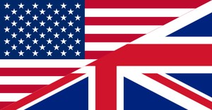 Combined flag of U.K. and U.S.