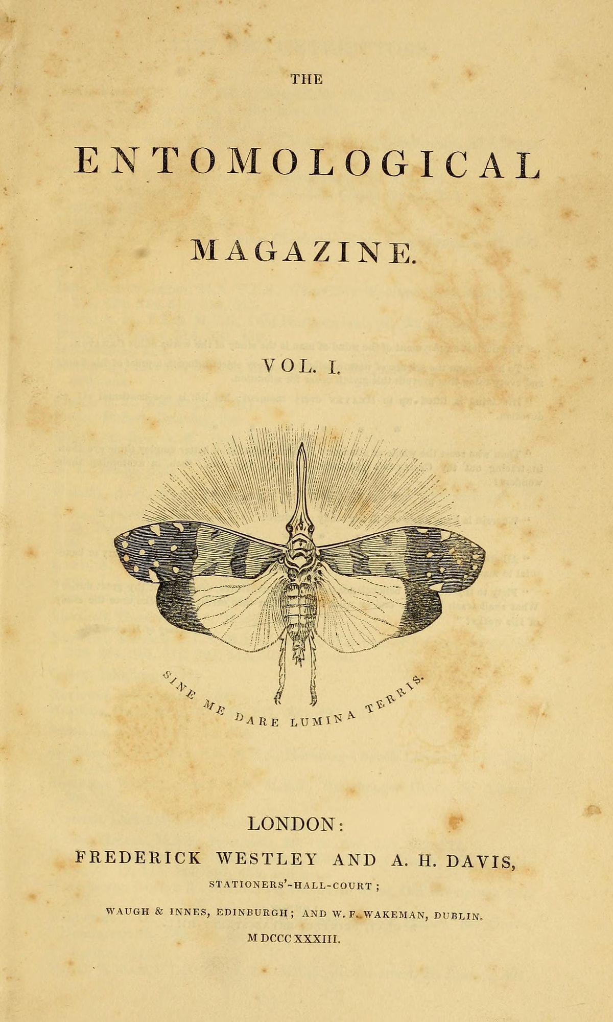 Entomological Magazine - Wikipedia