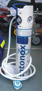 Nitrous oxide (medication) Gas used as anesthetic and for pain relief