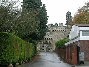 Devizes Castle - Entrance to Victorian castle