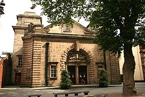 Walsall Town Hall - The main entrance in 2008