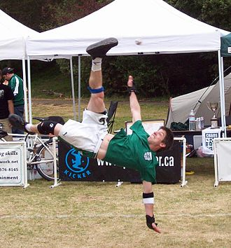 Hacky sack - Eric Wulff executing a Roll spike at the 2008 Green Cup, San Francisco