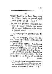 Erster Nachtrag zu dem Verzeichniß der Vögel, welche in Franken nisten, S. 693-698