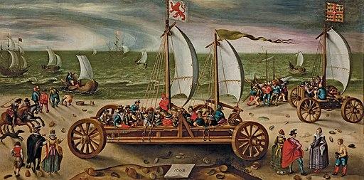 Esaias van de Velde (circle) Course de chars Scheveningen 1608