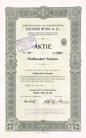 Escher Wyss & Cie. - Image: Escher Wyss 1912