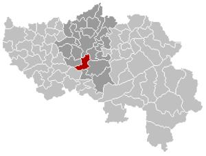 Esneux - Image: Esneux Liège Belgium Map