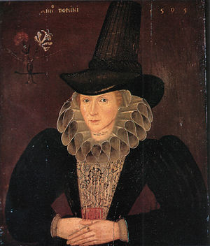 Esther Inglis - Esther Inglis in a 1595 portrait.
