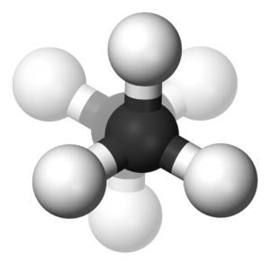 Alkane stereochemistry - Image: Ethane staggered depth cue 3D balls