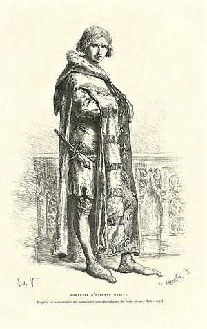 Great Ordinance of 1357 - Étienne Marcel, Illustration from the 19th century.
