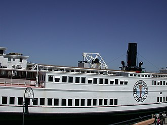 Eureka (ferryboat) - View of the middle of the port side of the ship