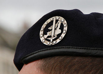 Eurocorps - Beret and badge of the corps