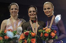 The medalists in the ladies' event