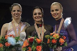 European Championships 2011 – Ladies podium.jpg