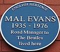 Evans (Mal) plaque at 28 Hillside Road, Liverpool.jpg