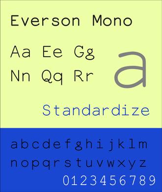 Everson Mono - Image: Eversonmono