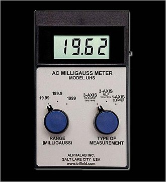 EMF measurement - An example of an EMF meter.