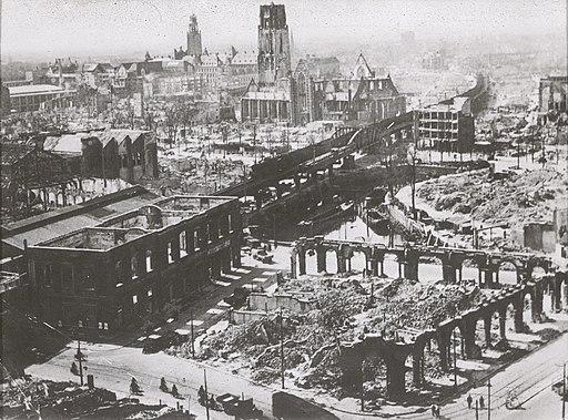 Vue après les bombardements - Rotterdam - 20264975 - RCE