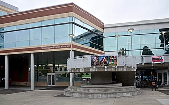 Washington County Museum - Exterior of the Plaza Building at Hillsboro Civic Center, the museum's main location from 2012 to 2017