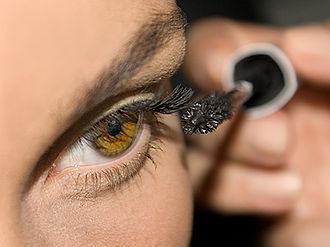 Mascara - Mascara being applied.