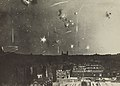 Fédèle Azari, Bombs over low buildings, 1914-1919.jpg