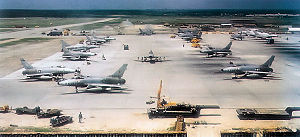 Da Nang Air Base - F-100Ds of the 416th Fighter Squadron at Da Nang AB in 1965