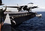 F-14A VF-111 launching from USS Carl Vinson (CVN-70) 1988.jpg