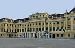 Façade nord château Schönbrunn Vienna
