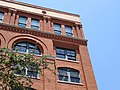 Facade of Former Book Depository Building with Window (Middle Right) from Which Oswald Shot Kennedy - Dealey Plaza - Dallas - Texas - USA (20072181356).jpg