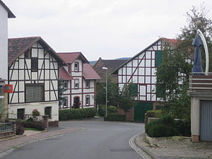 Gudensberg - Half-timbered houses in Obervorschütz