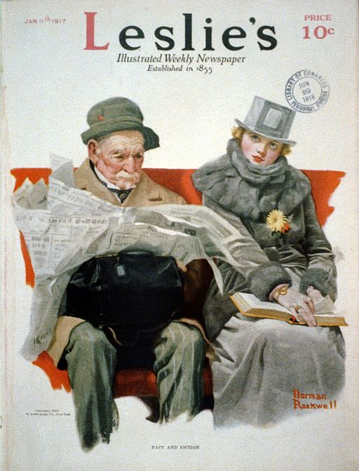 Fact & Fiction by Norman Rockwell 1917
