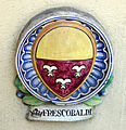 Famiglia chini, tabernacolo di san francesco (1926) stemma frescobaldi.JPG