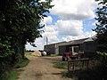 Farm buildings on track from Lodge Farm - geograph.org.uk - 489317.jpg