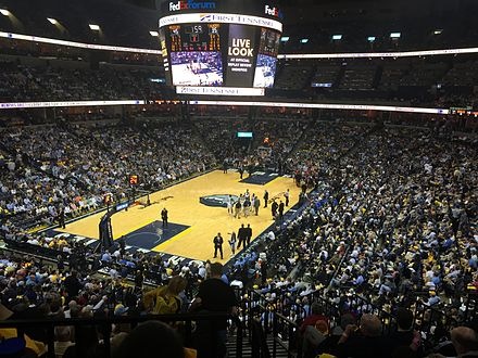 FedExForum during a Grizzlies game FedExForum 2015.jpg