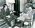 Felipe González recibe al vicepresidente de Nicaragua. Pool Moncloa. 22 de abril de 1988.jpeg
