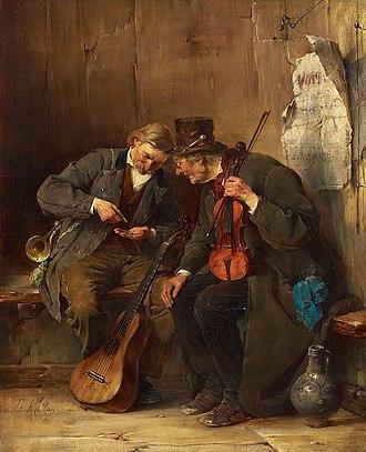 Ferdinand Keller (painter) - Image: Ferdinand Keller Bezahlung 1883